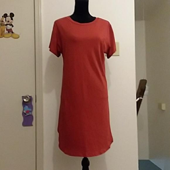 0595fbfc304c 2X Rust T-shirt Dress